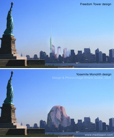 Freedom Tower vs. Hank Grebe WTC Redesign